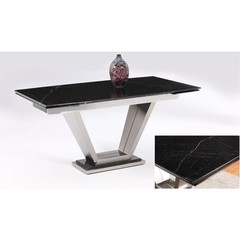 Buy Chintaly Imports Jessy 63x37 Dining Table w/ Marble Top on sale online