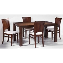 Buy Chintaly Imports May 5 Piece 63x35 Parson Dining Table Set on sale online