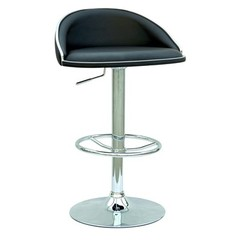 Buy Chintaly Imports Modern Adjustable Height Swivel Bar Stool w/ Pneumatic Gas Lift in Black on sale online