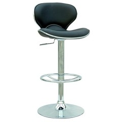Buy Chintaly Imports Modern Adjustable Height Swivel Stool w/ Pneumatic Gas Lift in Black on sale online