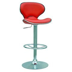 Buy Chintaly Imports Modern Adjustable Height Swivel Stool w/ Pneumatic Gas Lift in Red on sale online