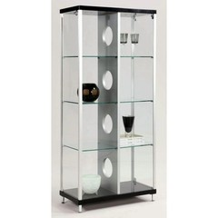 Buy Chintaly Imports Modern Glass Curio w/ 2 Side Doors and Locks on sale online