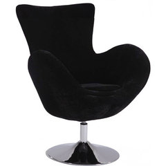 Buy Chintaly Imports Modern Swivel Fun Arm Chair in Black on sale online