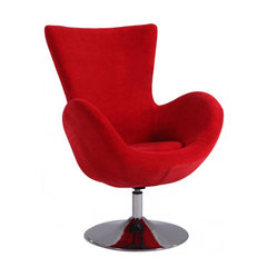 Buy Chintaly Imports Modern Swivel Fun Arm Chair in Red on sale online