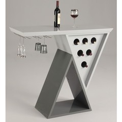 Buy Chintaly Imports Mulberry 47x19 Modern Triangle Home Bar on sale online