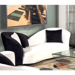 Buy Chintaly Imports New York Modern Two-Tone Sofa in Espresso on sale online