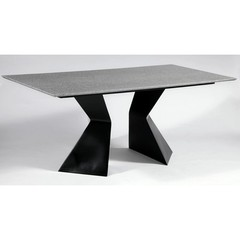 Buy Chintaly Imports Phyllis 71x35 Dining Table w/ Solid Surface on sale online
