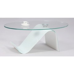 Buy Chintaly Imports 50x26 Starphire Oval Coffee Table on sale online