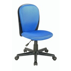 Buy Chintaly Imports Swivel Desk Chair w/ Fabric Back and Seat in Blue on sale online