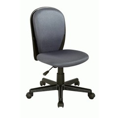Buy Chintaly Imports Swivel Desk Chair w/ Fabric Back and Seat in Grey on sale online