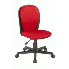 Buy Chintaly Imports Swivel Desk Chair w/ Fabric Back and Seat in Red on sale online