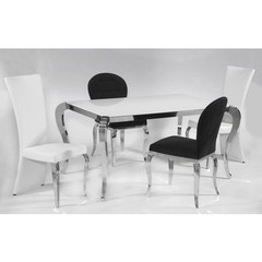 Buy Chintaly Imports Teresa 5 Piece 64x40 Dining Table Set w/ Oval Back Side Chairs on sale online