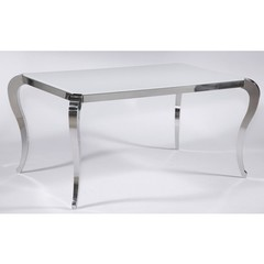 Buy Chintaly Imports Teresa 64x40 Dining Table w/ Glass Top on sale online