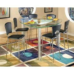 Buy Chintaly Imports Tracy 7 Piece 57 Inch Triangular Counter Table Set on sale online