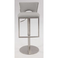 Buy Chintaly Imports Upholstered Adjustable Height Stool w/ Pneumatic Gas Lift and Low Back on sale online