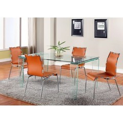 Buy Chintaly Imports Vera 5 Piece 63x35 Modern Dining Table Set w/ Vera Side Chairs on sale online