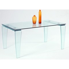 Buy Chintaly Imports Vera 63x35 Modern Dining Table w/ Glass Top on sale online