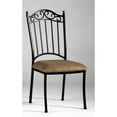 Buy Chintaly Imports Wrought Iron Side Chair in Taupe on sale online