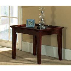 Buy Steve Silver Clemens 24 Inch Square End Table in Rich Cherry on sale online