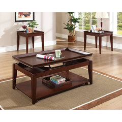 Buy Steve Silver Clemens 3 Piece Occasional Table Set in Rich Cherry w/ 2 End Tables on sale online