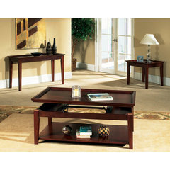 Buy Steve Silver Clemens 3 Piece Occasional Table Set in Rich Cherry on sale online
