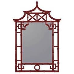 Buy Cooper Classics 42x28 Lilly Mirror in Gloss and Red on sale online