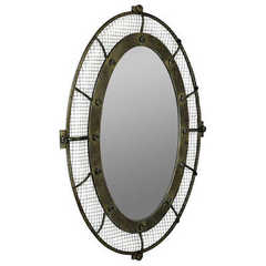 Buy Cooper Classics Agda 39x28 Oval Wall Mirror in Rustic Bronze on sale online