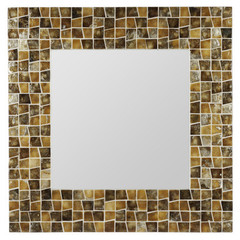 Buy Cooper Classics Allegro 31.5 Inch Square Mirror in Amber and Gold on sale online