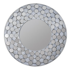 Buy Cooper Classics Arden 31.25 Inch Round Mirror in White Wash on sale online