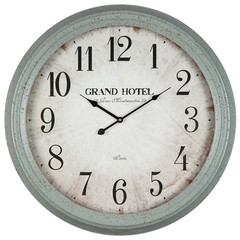 Buy Cooper Classics Asher 24.5 Inch Round Clock in Aged French Gray on sale online