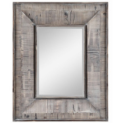 Buy Cooper Classics Avery 30x24 Mirror in Rustic White Wash on sale online