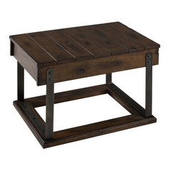 Buy Cooper Classics Bullard 28x18 Cocktail Table in Distressed Brown on sale online