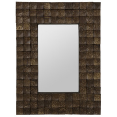 Buy Cooper Classics Cartona 31.5x23.75 Mirror in Dark Brown Coconut Bark on sale online