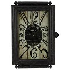 Buy Cooper Classics 30x21 Charest Clock in Black and Brown on sale online