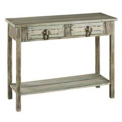 Buy Cooper Classics 43x16 Rectangular Benue Console Table in Green and Beige on sale online