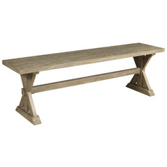 Buy Cooper Classics Crofton Bench in White Wash on sale online
