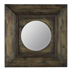 Buy Cooper Classics Davenport 22 Inch Square Mirror in Distressed Brown on sale online