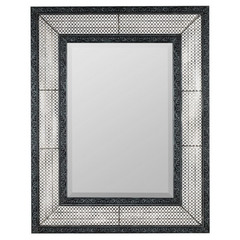 Buy Cooper Classics Dearborn 40.75x31.75 Mirror in Distressed Gray with Silver Highlights on sale online