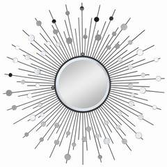 Buy Cooper Classics Delaney 38 Inch Sunburst Mirror in Silver Metal on sale online
