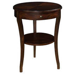 Buy Cooper Classics Elsa 20 Inch Round Side Table in Cherry on sale online