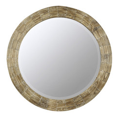 Buy Cooper Classics Kettler 31.25 Inch Round Mirror in Medium Wood on sale online
