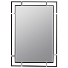 Buy Cooper Classics Kinzie 34x24 Mirror in Black on sale online