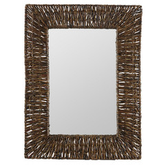 Buy Cooper Classics Manhattan 31x23.75 Mirror in Brown Recycled Snack Wrap on sale online