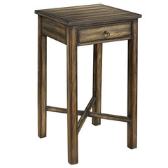 Buy Cooper Classics Munden 14 Inch Square Side Table in Dark Brown with Black Highlights on sale online