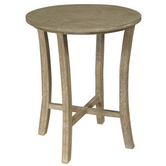Buy Cooper Classics Newburn 20 Inch Round Side Table in White Wash on sale online