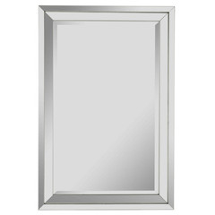 Buy Cooper Classics Paula 36x24 Mirror in Silver Lining on sale online