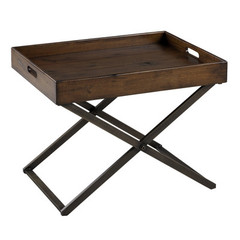 Buy Perera 24x16.5 Cocktail Table in Distressed Brown on sale online