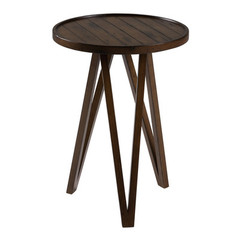 Buy Cooper Classics Russell 19x19 Round Side Table in Distressed Brown on sale online