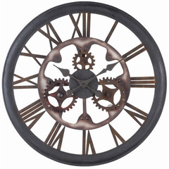 Buy Cooper Classics Senna 26 Inch Round Clock in Aged Black Rust on sale online