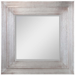 Buy Cooper Classics Sofia 24 Inch Square Mirror in Silver on sale online